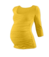 JOHANKA- maternity T-shirt, 3/4 sleeve, YELLOW-ORANGE L/XL