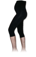 Maternity leggins, 3/4, BLACK