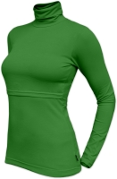 KATERINA- breast-feeding roll-colar T-shirt, DARK GREEN