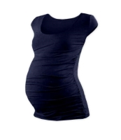 JOHANKA- T-shirt for pregnant women, mini sleeves, DARK BLUE