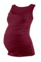 JOHANKA- T-shirt for pregnant women, no sleeves, BORDO S/M