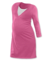 LUCIE- maternity and breast-feeding nightdress, PINK
