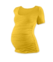 JOHANKA- T-shirt for pregnant women, short sleeves, YELLOW-ORANGE