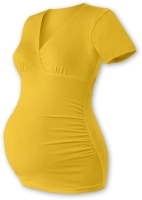 BARBORA- maternity T-shirt/tunic, YELLOW-ORANGE