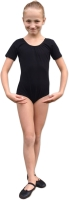 ballet gymnastic cotton leotard black tricot