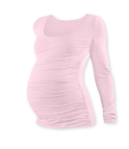 JOHANKA- maternity T-shirt, long sleeve, LIGHT PINK