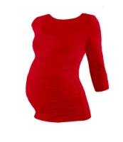 JOHANKA- maternity T-shirt, 3/4 sleeve, RED L/XL