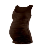 JOHANKA- T-shirt for pregnant women, no sleeves, CHOCOLATE BROWN XXL/XXXL