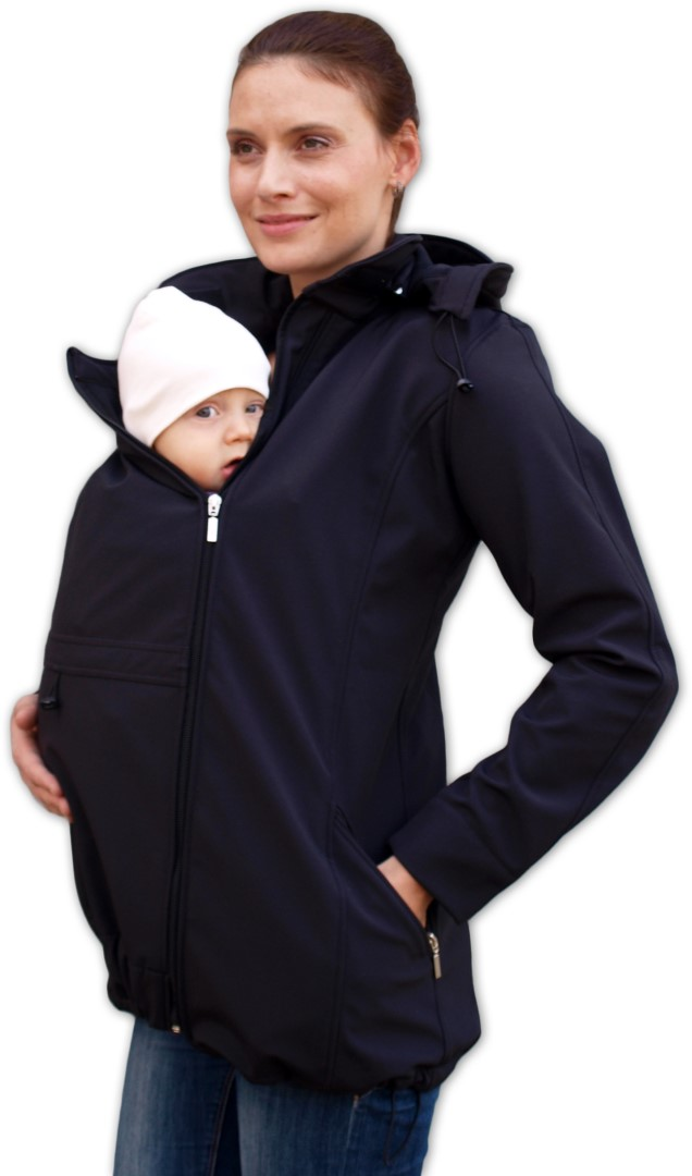 ec32221679ede STELLA 2- maternity and babywearing softshel jacket (FRONT USE ONLY), BLACK  | jozanek.com