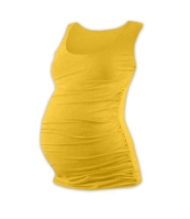 JOHANKA- T-shirt for pregnant women, no sleeves, YELLOW-ORANGE XXL/XXXL