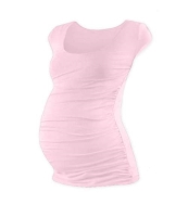 JOHANKA- T-shirt for pregnant women, mini sleeves, LIGHT PINK