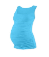 JOHANKA- T-shirt for pregnant women, no sleeves, TURQUOISE L/XL