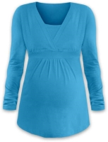 ANICKA- maternity and breast-feeding tunic, TURQUOISE