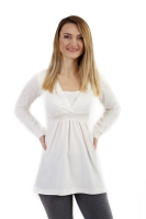 ANICKA- maternity and breast-feeding tunic, ECRU